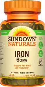 Sundown Naturals Iron