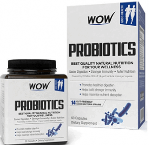 Wow Probiotics 20 Billion per Capsule 14 Probiotic Strains
