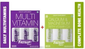 Fast&Up Vitalize Multivitamins and Fortify Bone Health Supplements