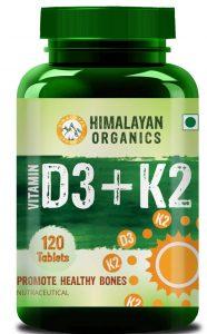 Himalayan Organics Vitamin D3 with K2 as MK7 supplement