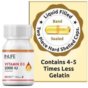 INLIFE Vitamin D3 Cholecalciferol Immunity Supplements
