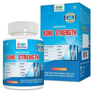 ProNutrition Bone Strength Supplement with Calcium Citrate, Vitamin D3, K2, Magnesium, Zinc