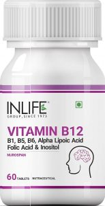 Inlife Vitamin B12 ALA and Folic Acid Supplement