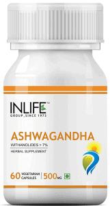 INLIFE Ashwagandha Supplement Tablets