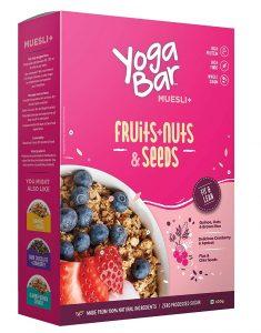 Yogabar Muesli Fruit and Nuts - Wholegrain Breakfast Cereals with Oats