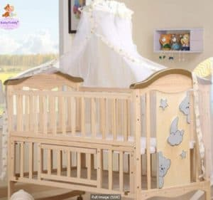 BabyTeddy 9 in 1 Convertible Bruno-The Dog Baby Crib