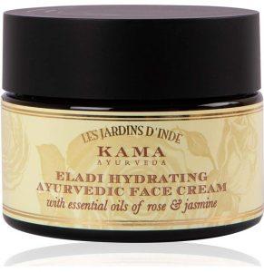 Kama Ayurveda Eladi Hydrating Ayurvedic Face Cream with Pure Essential Oils of Rose and Jasmine