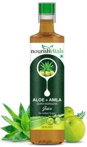 NourishVitals Aloe Vera + Amla Super Energizer Juice