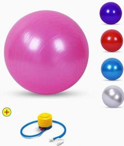 TOUA Rubber Gym Ball With Foot Pump