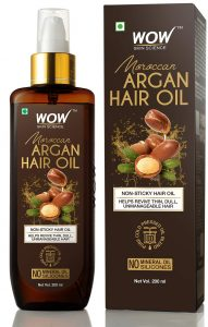 WOW Skin Science Cold Pressed Moroccan Argan Hair Oil