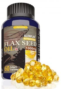 Alenflax Cold pressed Flaxseed oil Capsules
