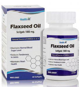 HealthVit Flaxseed Oil Softgels