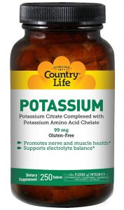 Country Life Potassium 99 Mg, 250-Count
