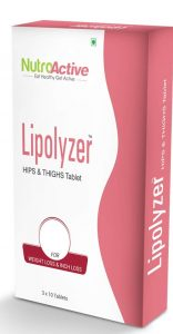 Nutroactive Lipolyzer Hips & Thighs Weight Loss Tablets