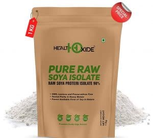 HealthOxide Pure Raw Soya Isolate 90% Protein Powder