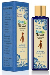 Blue Nectar Ayurvedic Pain Relief Oil for Body, Back, Knee and Legs