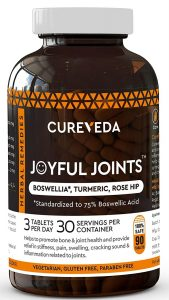 Cureveda™ Herbal Joyful Joint Support Supplement Tablets For Bone,Joint Wellness
