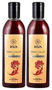 Jiva Pain Calm Oil - 120 ml Each (Pack of 2) Ayurvedic Pain Relief Oil for Joint