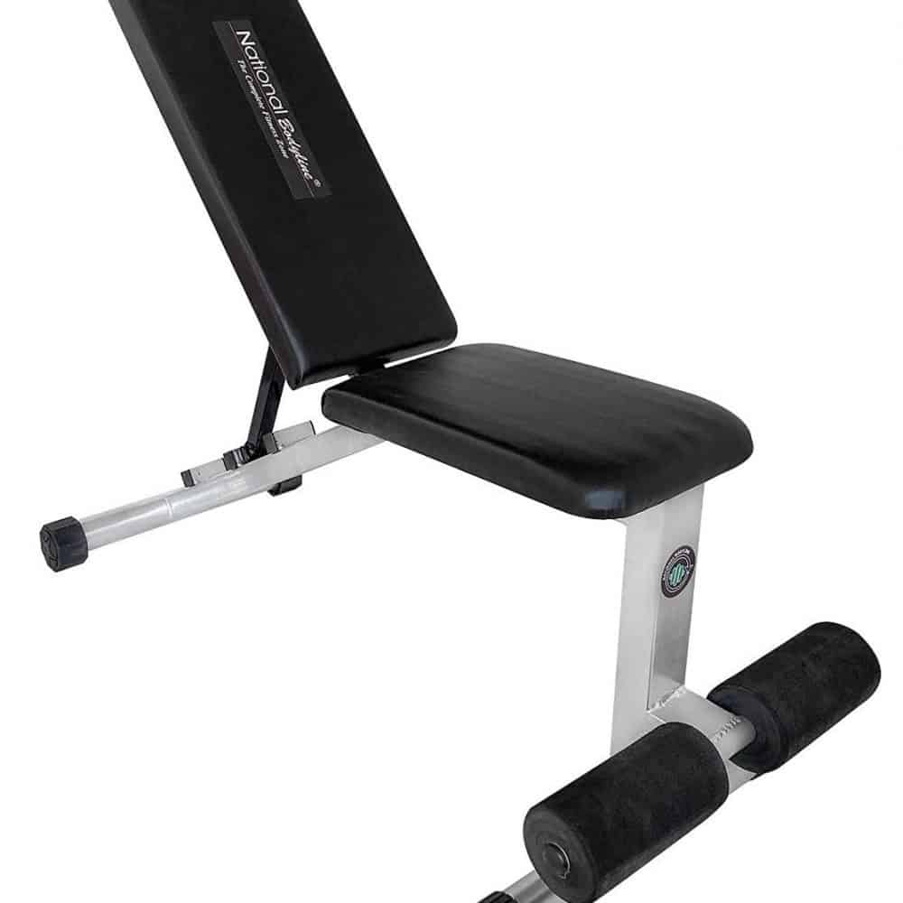 NATIONAL BODYLINE Adjustable Weight Bench Full Body Workout Machine