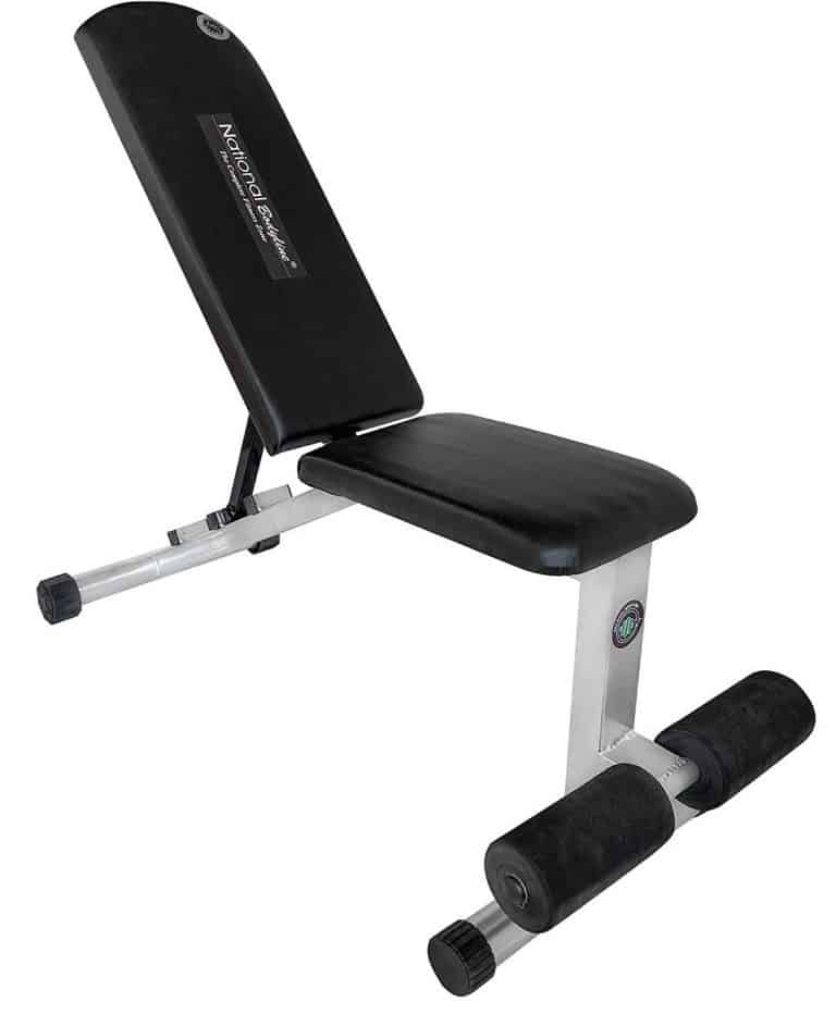 NATIONAL BODYLINE Adjustable Weight Bench Full Body Workout Machine