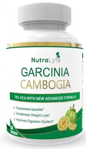 NutraLyfe Garcinia Cambogia Extract with Green Tea Organic, Pure, Natural & Herbal 70% HCA