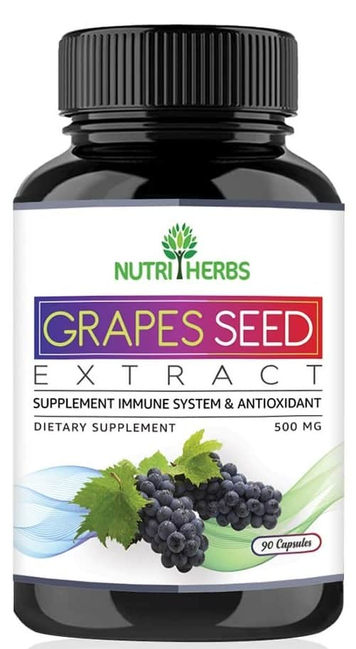 Nutriherbs Grapes Seed Extract Support Immune System & Antioxidant Supplement